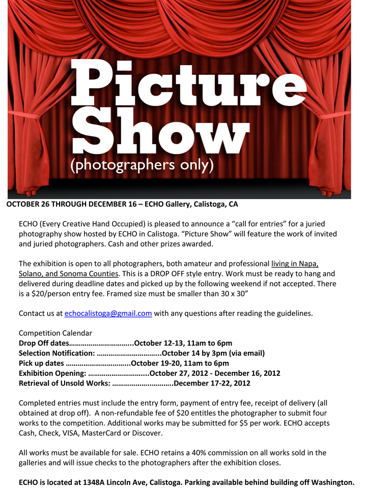 Picture Show guidelines
